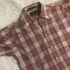 Members Only Shirts - Vintage Members Only Short Sleeve Plaid M